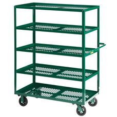 Nursery Welded Truck with 5 Perforated Shelves - 24