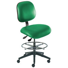 Quick Ship Elite Series Chair Ergonomic Seat and Reinforced Composite Base - Medium Seat Height
