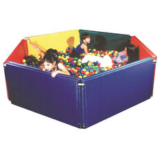 Sensory Ball Environment with 6 Vinyl Wrapped Panels and 5,500 Multicolored 4