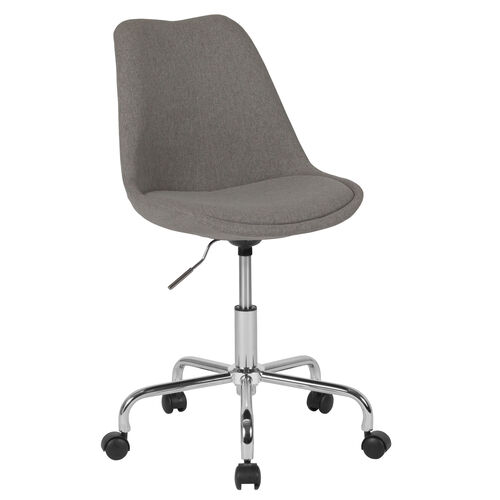 Our Aurora Series Mid-Back Light Gray Fabric Task Office Chair with Pneumatic Lift and Chrome Base is on sale now.