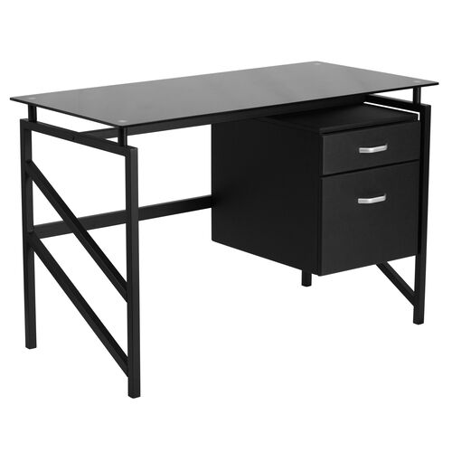 Our Glass Desk with Two Drawer Pedestal is on sale now.