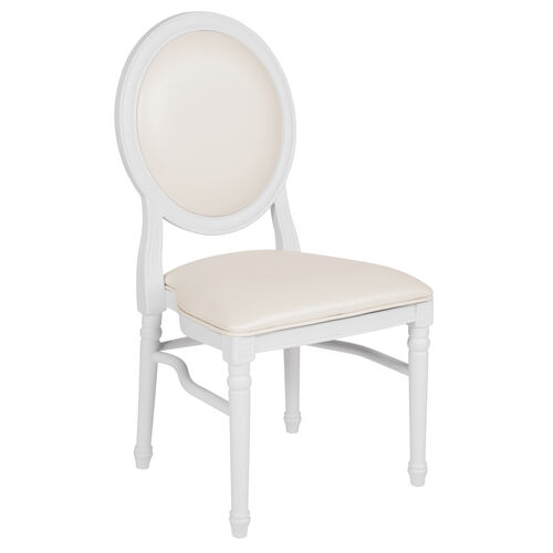 Our HERCULES Series 900 lb. Capacity King Louis Chair with White Vinyl Back and Seat and White Frame is on sale now.