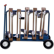 Starting Block Steel Cart with Casters - Blue