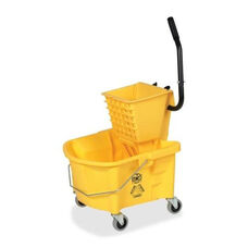 Genuine Joe Mop Bucket Wringer Combo - 3