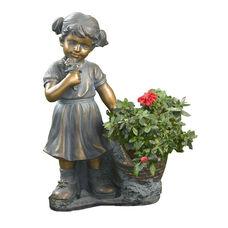 Girl Picking Flowers 20.5