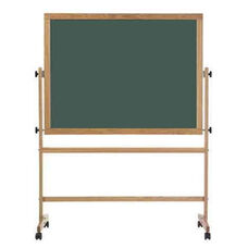Double-Sided Steel-Rite Chalkboard with Wood Trim - 42