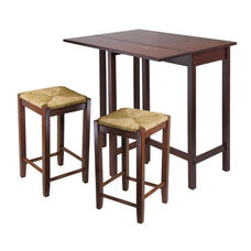 Lynnwood 3-Pc High Table Set with 2 Rush Seat Stools