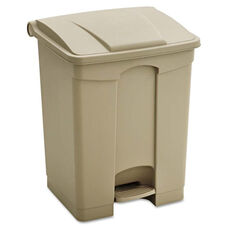 Safco® Large Capacity Plastic Step-On Receptacle - 17gal - Tan