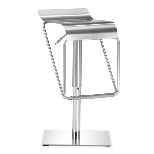 Dazzer Barstool in Brushed Stainless Steel