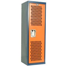 Home Team Locker - Unassembled - Dark Blue Body and Orange Door - 15