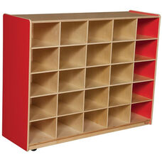 Wooden Storage Unit with 25 Storage Compartments - Strawberry - 48