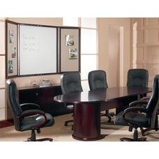 OSP Furniture Kenwood Hardwood Veneer Conference Suite with Curved Metal Drawer Pulls