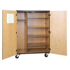 Mobile Teachers Storage Cabinet w/Locking Doors