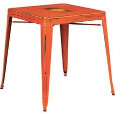OSP Designs Bristow Antique Metal Table - Antique Orange