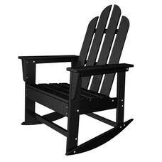 POLYWOOD® Long Island Collection Long Island Rocker - Black
