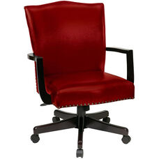Inspired By Bassett Morgan Eco Leather Managers Chair - Crimson Red