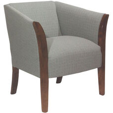 5803 Upholstered Lounge Chair w/ Wood Trim Arms - Grade 1