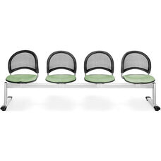 Moon 4-Beam Seating with 4 Fabric Seats - Sage Green