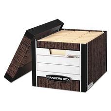 Bankers Box® R-KIVE Max Storage Box - Letter/Legal - Locking Lid - Woodgrain - 4/Carton