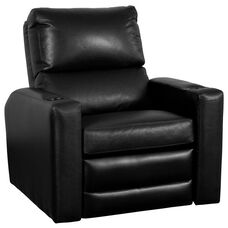 Manor Theater Seat in Top Grain Leather with Leather Match