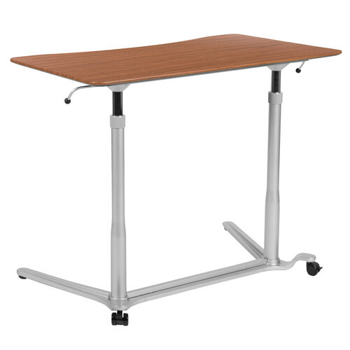 "Our Sit-Down, Stand-Up Cherry Computer Ergonomic Desk with 37.375""W Top (Adjustable Range 29"" - 40.75"") is on sale now."