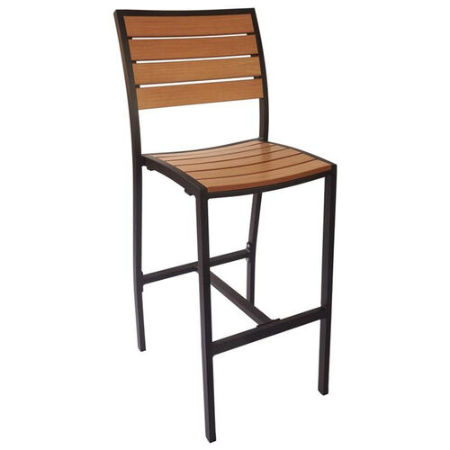Our Largo Side Barstool - Synthetic Teak Seat & Back and Black Frame is on sale now.