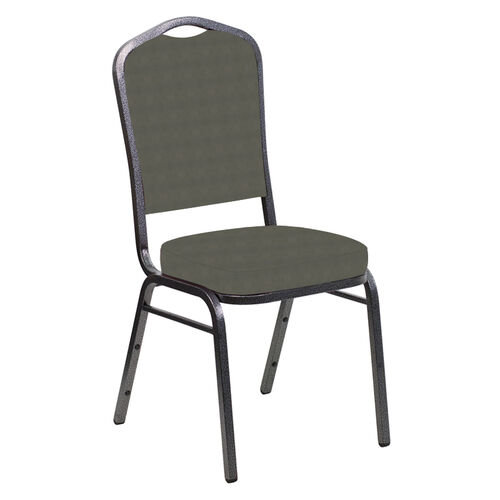 Our Crown Back Banquet Chair in Harmony Gray Fabric - Silver Vein Frame is on sale now.