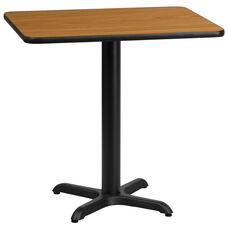 24'' x 30'' Rectangular Natural Laminate Table Top with 22'' x 22'' Table Height Base