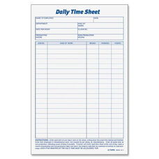 Tops Daily Time Sheet Form - Pack Of 2