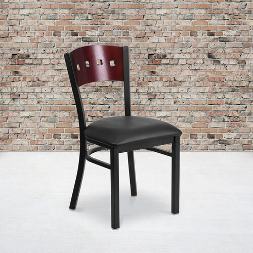 Our Black Decorative 4 Square Back Metal Restaurant Chair is on sale now.