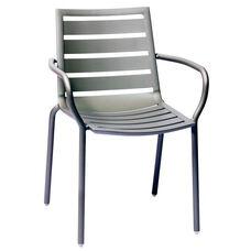 South Beach Stackable Outdoor Arm Chair Titanium Silver