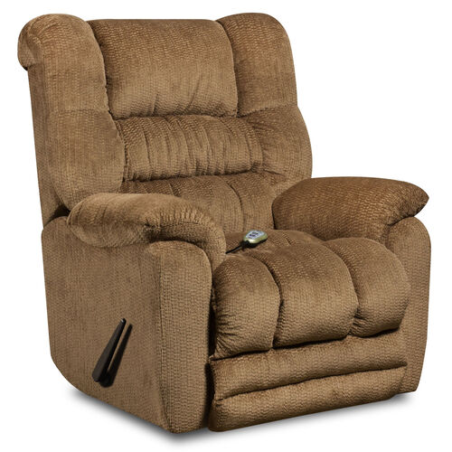 Our Massaging Temptation Fawn Microfiber Rocker Recliner with Heat Control is on sale now.