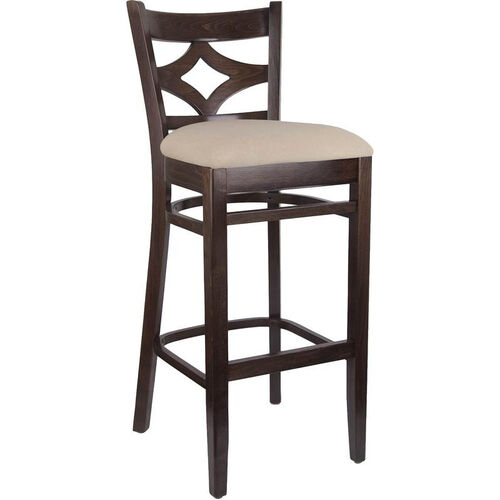 Our Diamond Back Bar Stool in Walnut Wood Finish is on sale now.