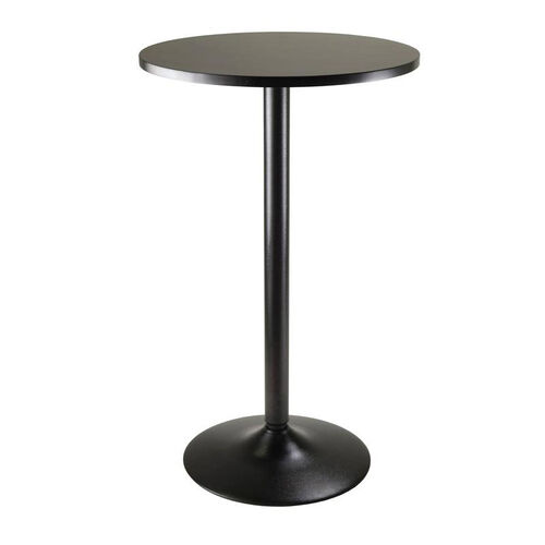 Obsidian Round Pub Table in Black
