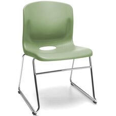 Multi-Use Plastic Seat and Back Stacker - Olive