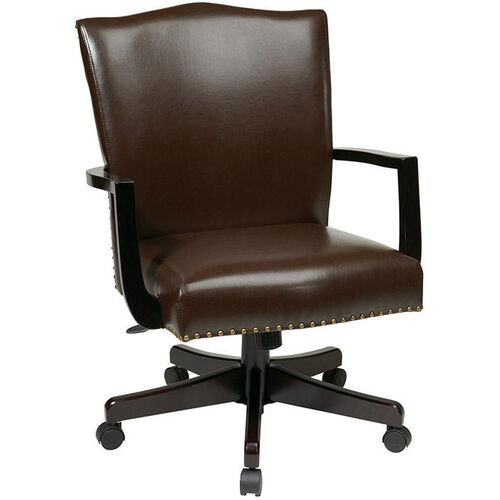 Our Inspired By Bassett Morgan Eco Leather Managers Chair - Espresso is on sale now.