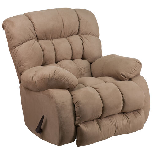 Our Contemporary Softsuede Taupe Microfiber Rocker Recliner is on sale now.