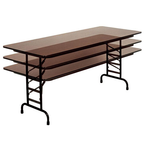 Adjustable Height Rectangular Melamine Top Folding Table - 48
