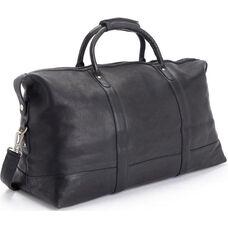 Premium Duffel Bag Luggage - Colombian Vaquetta Leather - Black