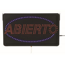 High Visibility LED ABIERTO Sign - 13