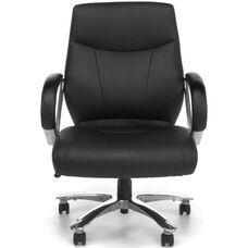 Avenger Series Big & Tall Executive Mid-Back Chair - Black