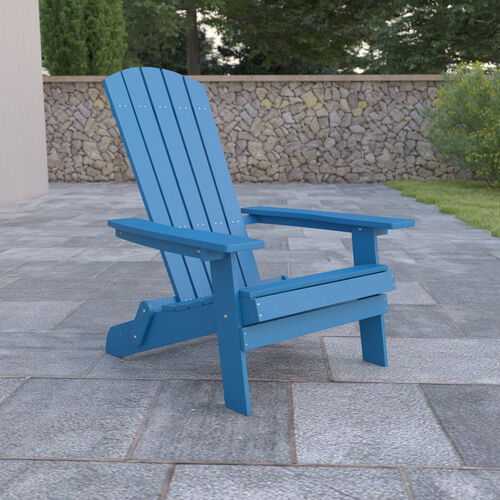 Charlestown All-Weather Poly Resin Indoor/Outdoor Folding Adirondack Chair