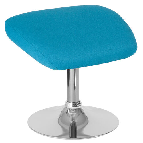 Our Egg Series Aqua Fabric Ottoman is on sale now.