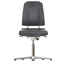 Aklaim Flagship Series Black Task Chair with Ergonomic Upholstery and Star Base with Glides - High Profile