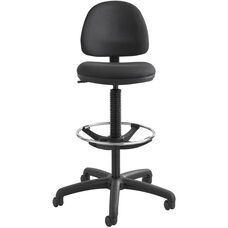 Precision Extended Height Chair with Foot Ring - Black