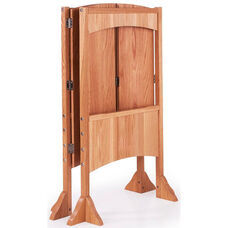Light Weight Height Adjustable Heartwood Kitchen Helper with Raised Wood Paneling - Solid Oak - 21