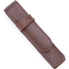 Single Pen Case - Top Grain Nappa Leather - Burgundy