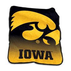 University of Iowa Team Logo Raschel Throw