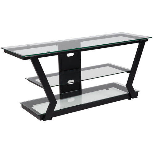 Our Harbor Hills Glass TV Stand with Black Metal Frame is on sale now.