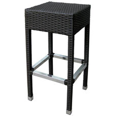 Gama Outdoor Weave Series Backless Barstool - Chocolate